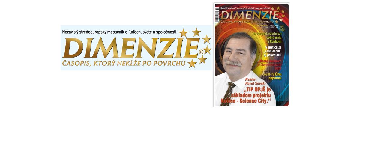 Rozhovor s rektorom UPJŠ Pavlom Sovákom v časopise DIMENZIE